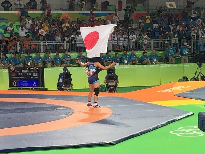 川井選手優勝ラン